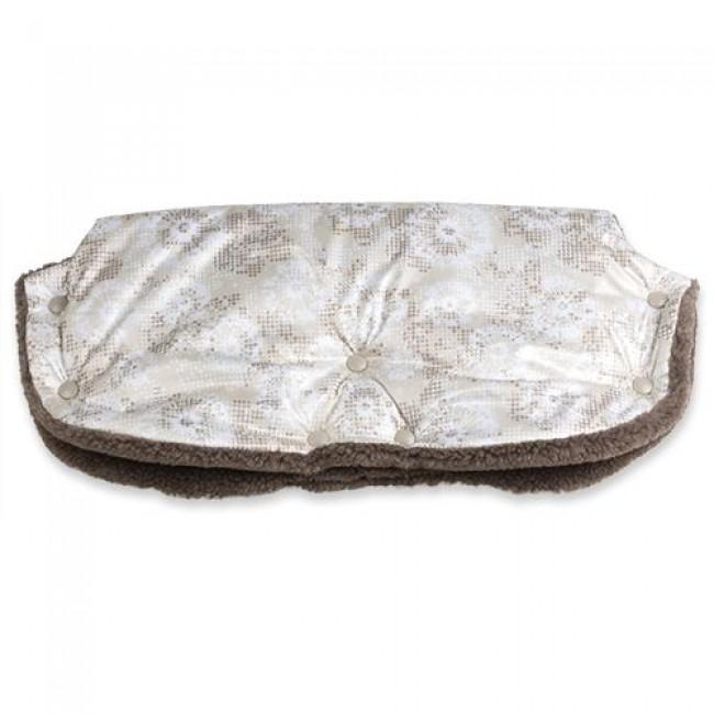 """Муфта для рук """"BaBy"""" ЕДУ-ЕДУ, на коляску, плащевая ткань,  мех, синтепон, зима"""