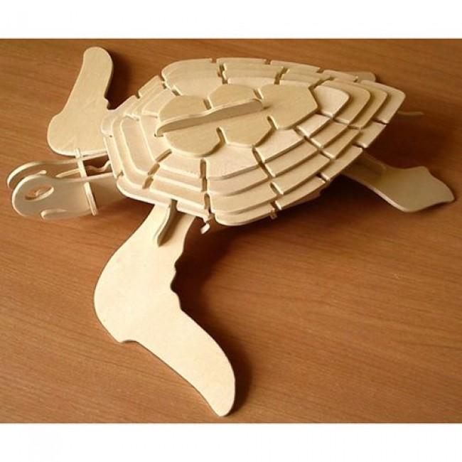 """Игрушка деревянная """"Модель сборная Морская черепаха"""", 4 пластины, WOODEN TOYS"""