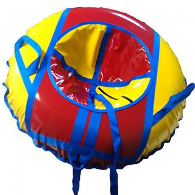 Санки-ватрушки ЕДУ-ЕДУ надувные, 3-х цветные,с камерой НПК+1/1, диаметр 110 см, цвета в ассортименте