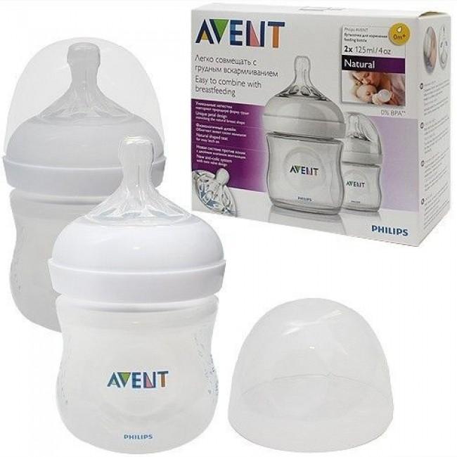 Бутылочка для кормления AVENT Natural  PP, 125 мл, 2 шт