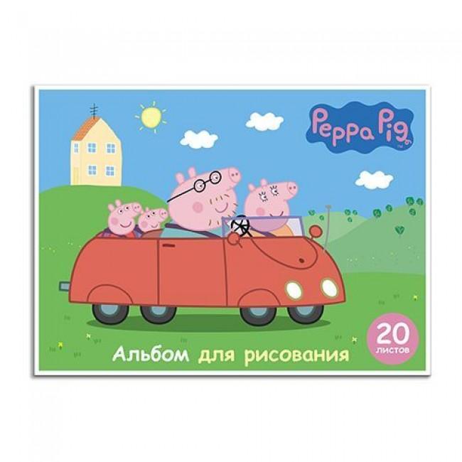 """Альбом для рисования """"Свинка Пеппа"""", А4, 20 листов, РОСМЭН"""