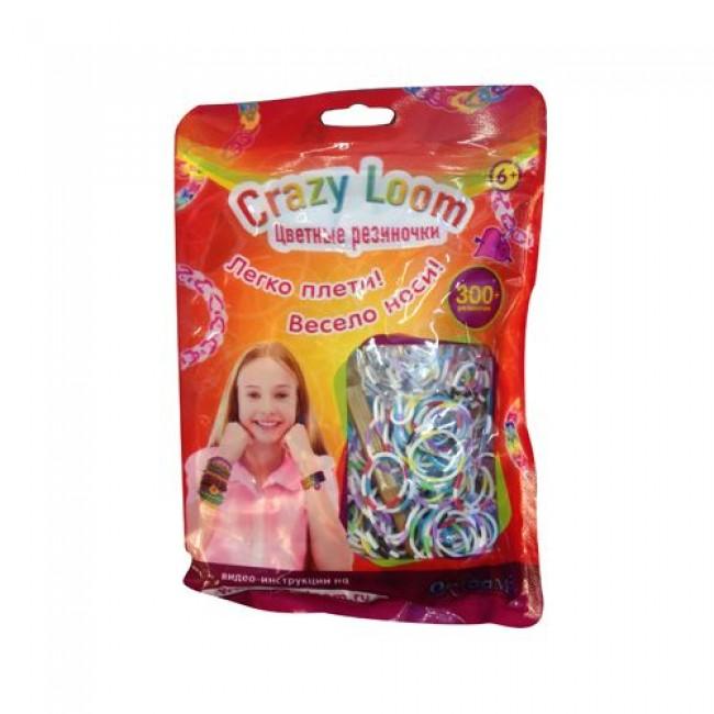 Набор д/детского творч-ва  «Набор цветных резинок для плетения», 300 шт, CRAZY LOOM