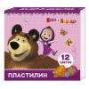 """Пластилин """"Маша и Медведь"""", 12 цв., РОСМЭН"""