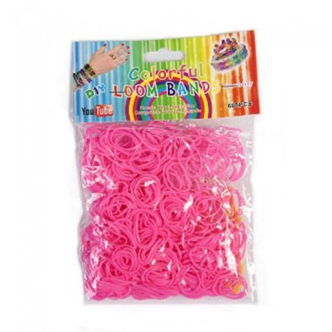 Набор для детского творчества  «Набор цветных резинок для плетения», 600 шт, крючок, в ассортименте