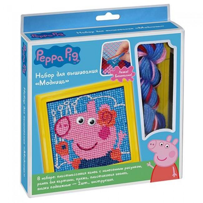 """Набор для детского творчества """"Набор для вышивания Модница"""", PEPPA PIG"""