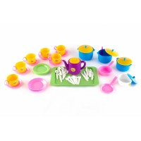 Набор детской посуды ПЛАСТМАСТЕР 21057 Позови гостей