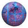 Санки-ватрушки ЕДУ-ЕДУ надувные, Принт,3-х цветные,с кам. НСП+2, диаметр 100см, цвета в ассортименте