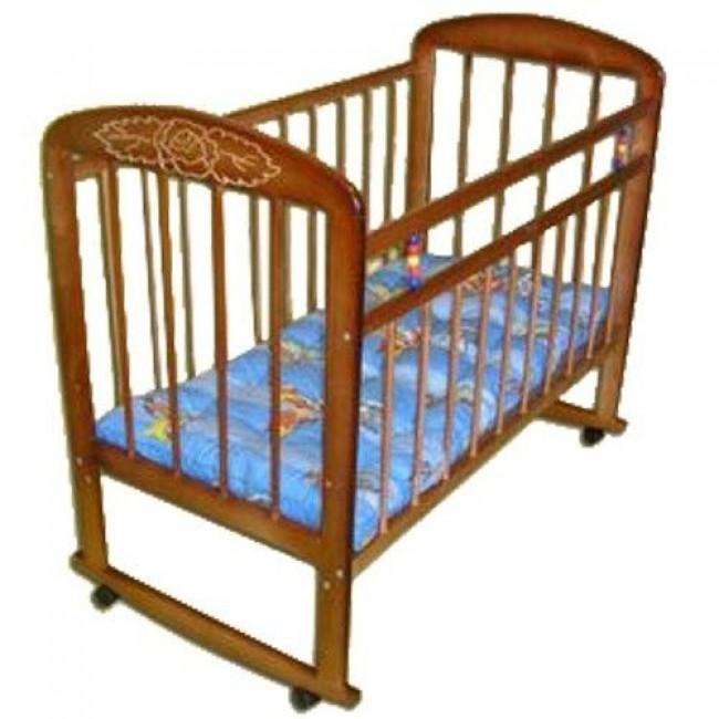 """Кроватка детская МИШУТКА """"Мишутка-8"""" 120*60 классическая, колесо-качалка"""