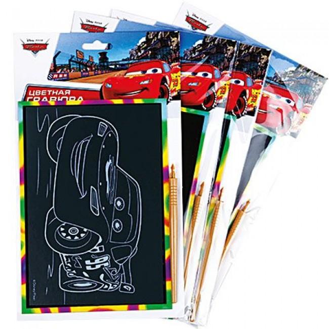 """Набор для детского творчества """"Гравюра Disney Тачки"""", цветная, А5, в ассортименте, MULTIART"""