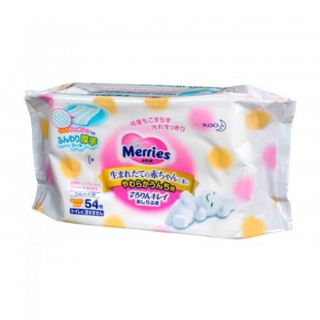 Салфетки влажные MERRIES 54 шт (сменный блок)