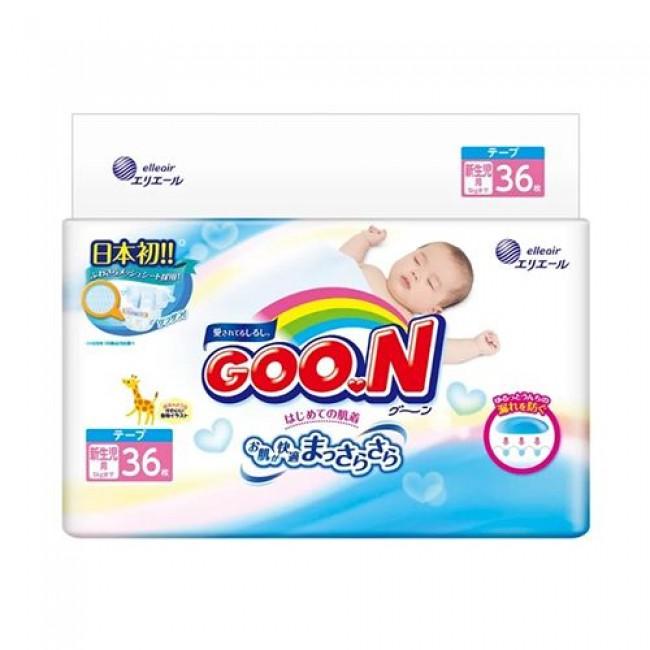 Подгузники GOO.N для новорожденных 0-5 кг, 36 шт