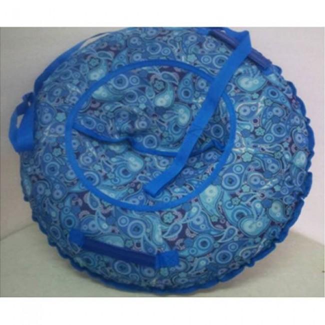 Санки-ватрушки ЕДУ-ЕДУ надувные,Принт, с камерой СГПЗ-100, диаметр 100 см, цвета в ассортименте