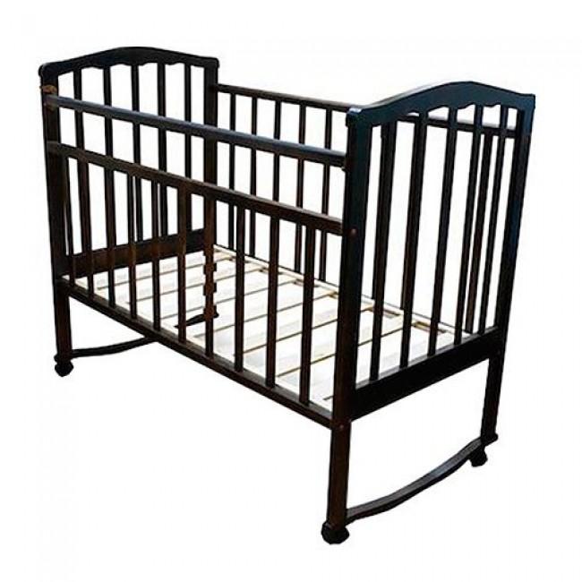 """Кроватка детская ЗОЛУШКА """"Золушка-1"""" 120*60 классическая, колесо-качалка"""