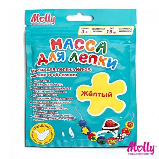 """Набор для детского творчества """"Масса для лепки"""", цвет желтый, 15 грамм, MOLLY"""