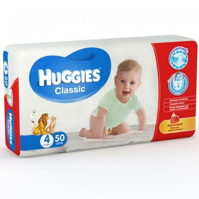 Подгузники HUGGIES Classic Jumbo Pack 7-18 кг 50 шт. р.4