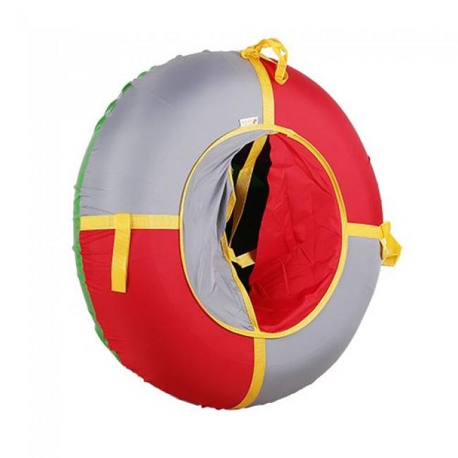 Санки-ватрушки ЕДУ-ЕДУ надувные, 3-х цветные, с камерой НПОК+1, диаметр 100 см, цвета в ассортименте