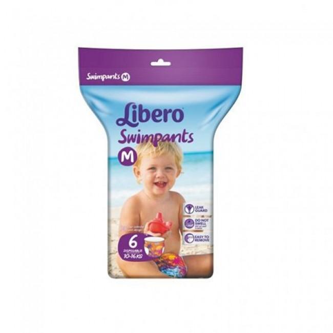 Подгузники-трусики LIBERO для плаванья Medium, 10-16 кг, 6 шт