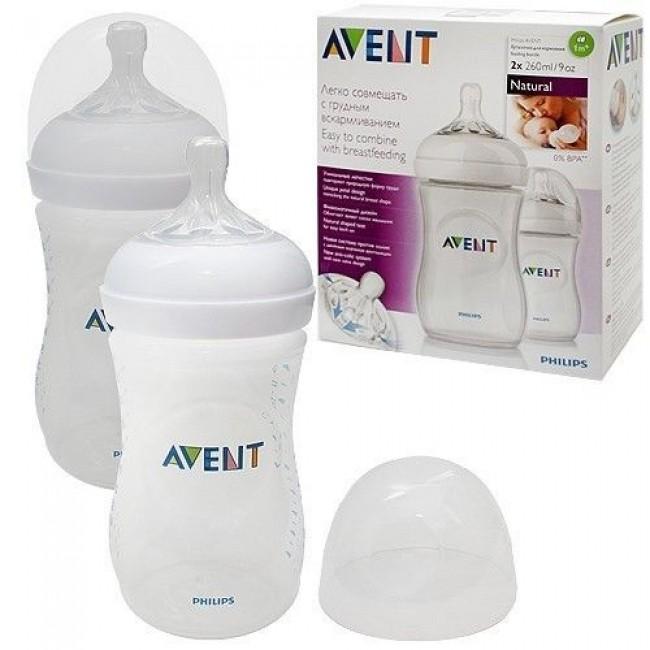 Бутылочка для кормления AVENT Natural  PP, 260 мл, 2 шт