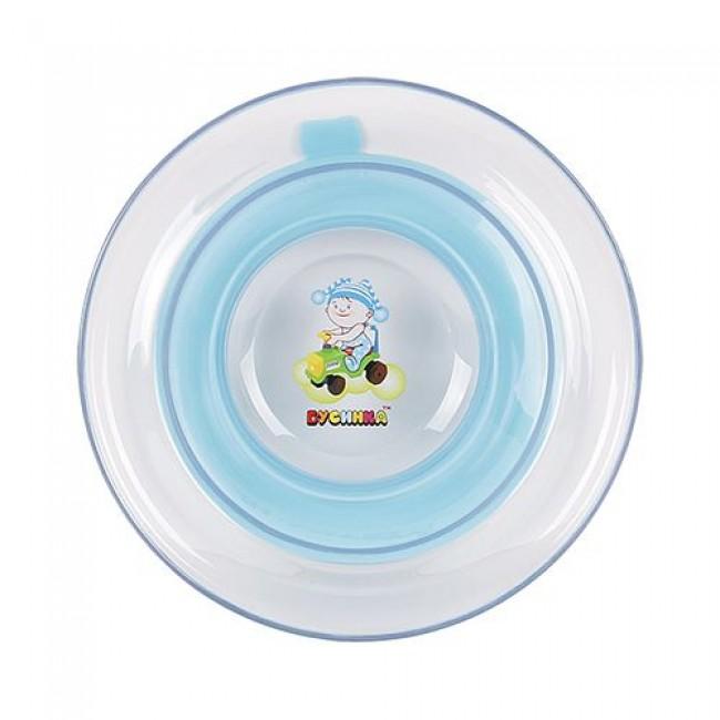 Тарелка БУСИНКА на присоске прозрачная
