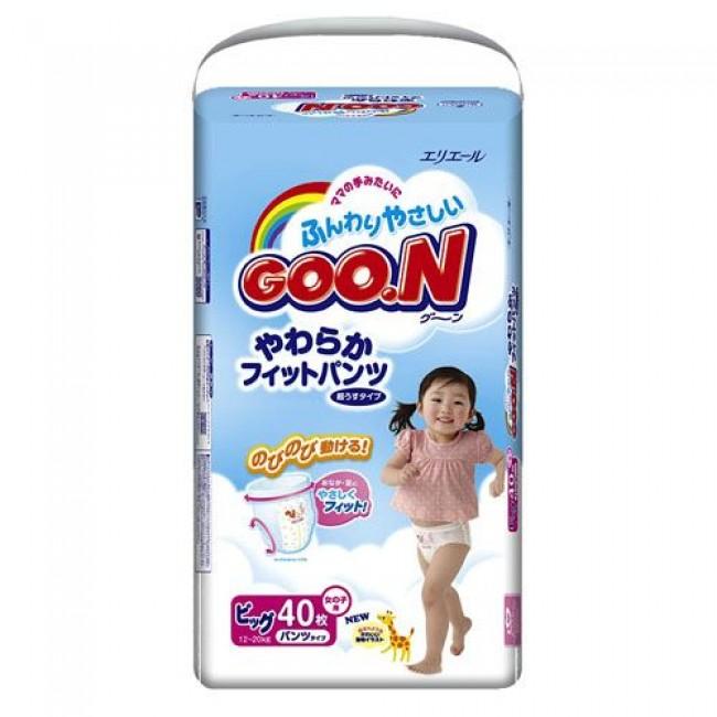 Трусики GOO.N XL экстра лардж для девочек 12-20 кг. 38/40шт.