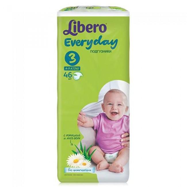 Подгузники LIBERO Everyday Midi 4-9кг, экономичная упаковка, 46 шт