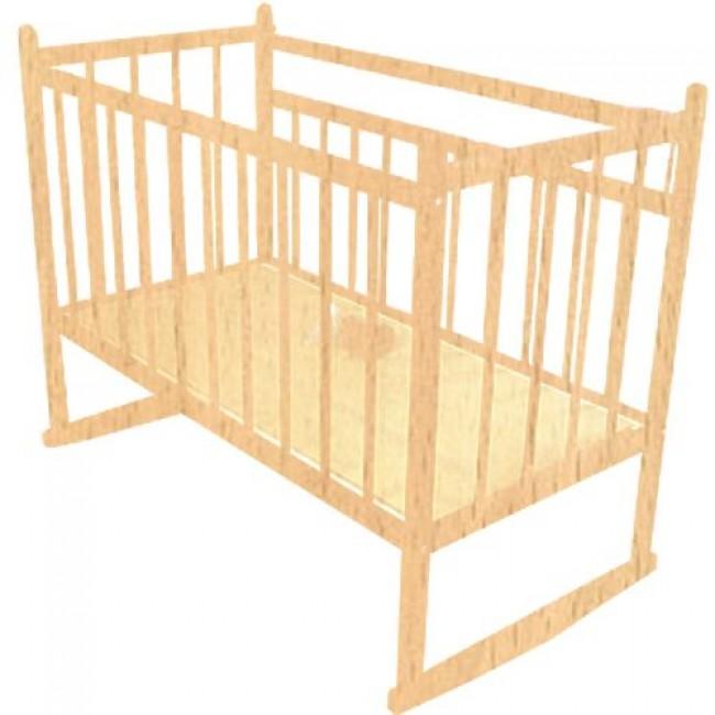 """Кроватка детская МИШУТКА """"Мишутка-13"""" 120*60 классическая, колесо-качалка"""