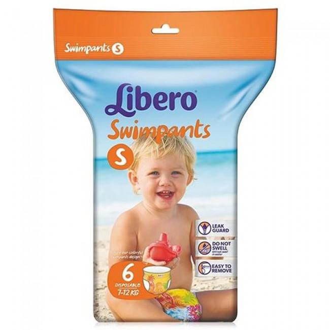 Подгузники-трусики LIBERO для плаванья Small, 7-12 кг, 6 шт