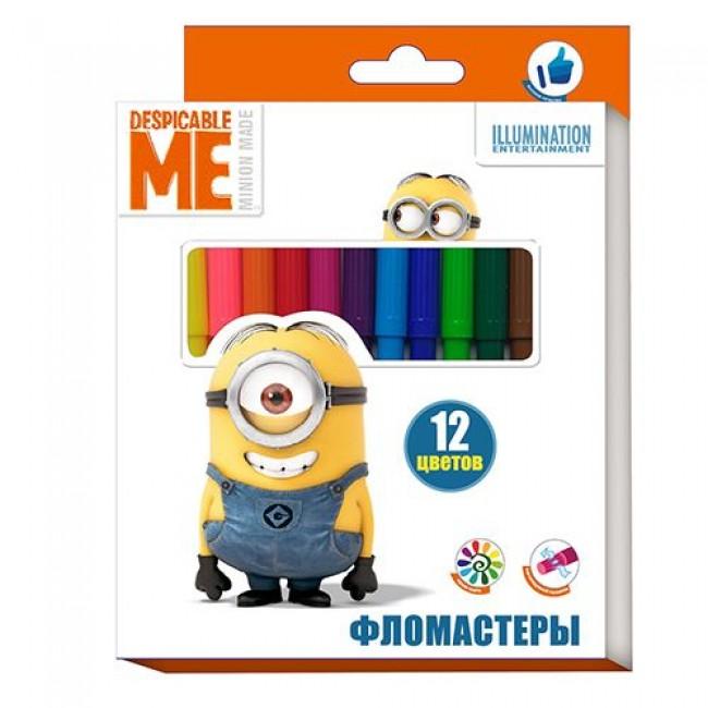 """Фломастеры """"Despicable Me"""", 12 цветов, МИНЬОНЫ"""