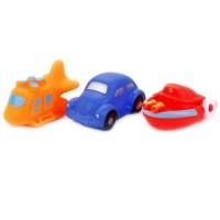 """Игрушка для купания """"Вертолет, машина, катер"""" в сетке, ИГРАЕМ ВМЕСТЕ"""