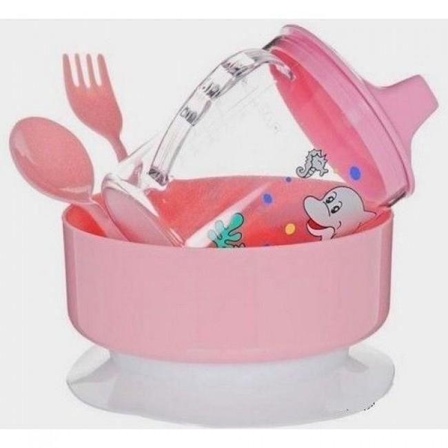 Набор посуды СКАЗКА тарелка, ложка, кружка 240 мл, вилка