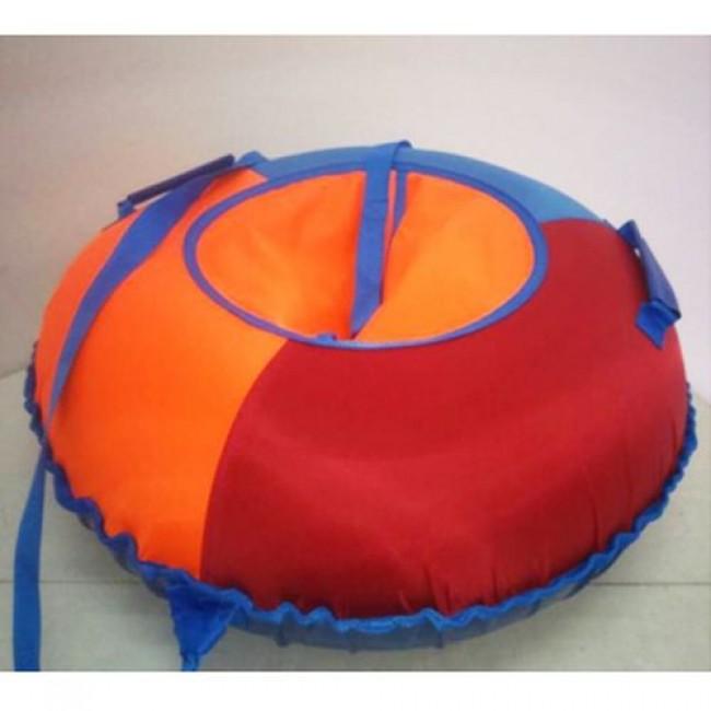 Санки-ватрушки ЕДУ-ЕДУ надувные,3-х цветные,с камерой НПОК+-090, диаметр 90 см, цвета в ассортименте