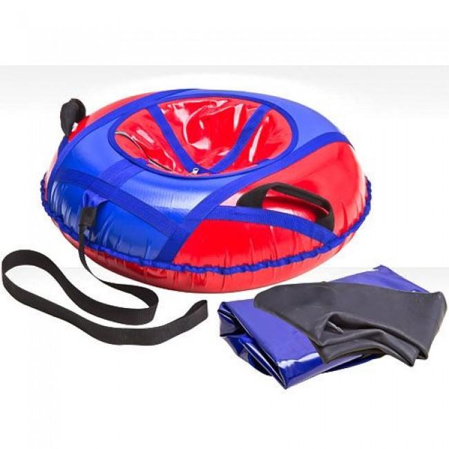 Санки-ватрушки ЕДУ-ЕДУ надувные, 3-х цветные, с камерой НПК+6, диаметр 65 см, цвета в ассортименте