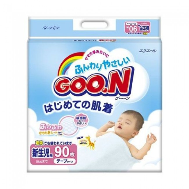 Подгузники GOO.N для новорожденных 0-5 кг., 90 шт.