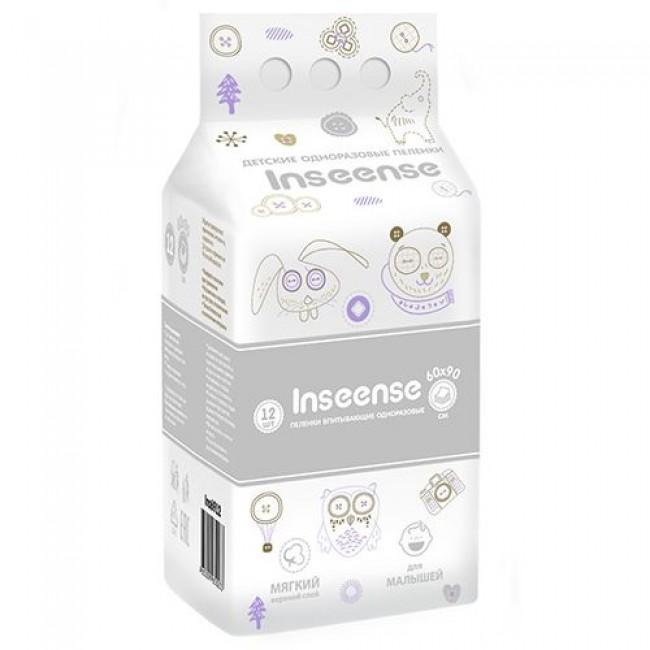 Пеленки INSEENSE впитывающие одноразовые 60х90, 12 шт