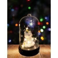 Настольный сувенир новогодний с подсветкой / светильник-ночник в виде единорога