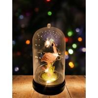 Настольный сувенир новогодний с подсветкой / светильник-ночник в виде фламинго.