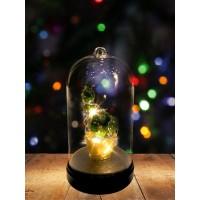 Настольный сувенир новогодний с подсветкой / светильник-ночник в виде кактуса