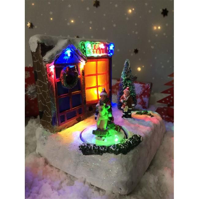 Музыкальная шкатулка Новый год Новогодние украшения Новогодний декор Новогодние игрушки Гирлянда